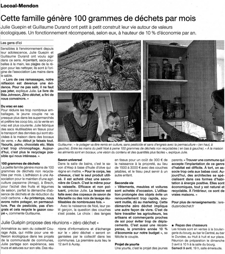 Ouest France 01/04/2016