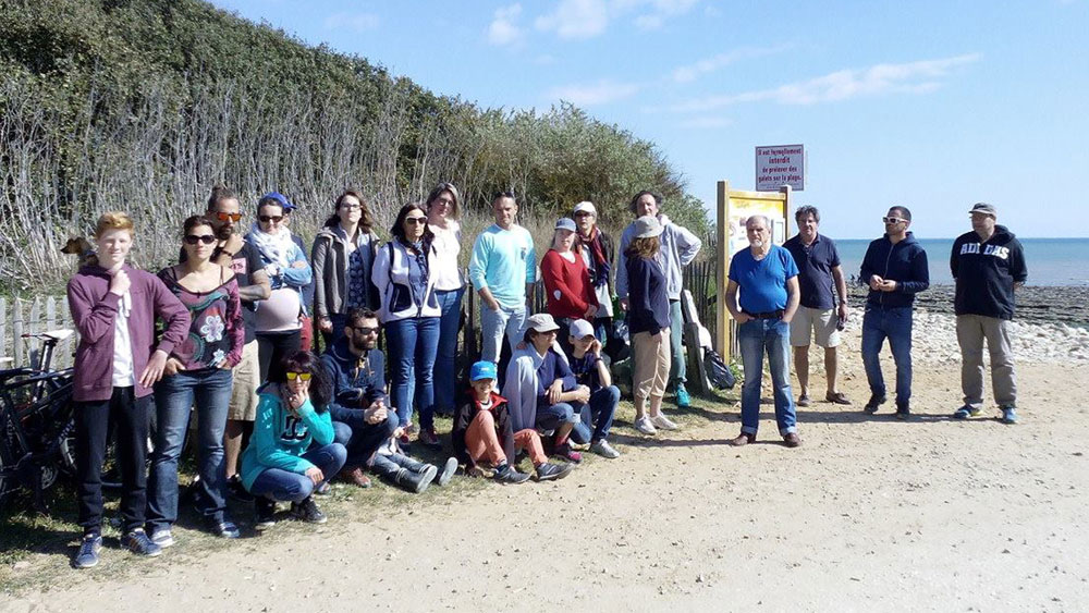 Photo de groupe plage de Ragounite, Jard-sur-Mer
